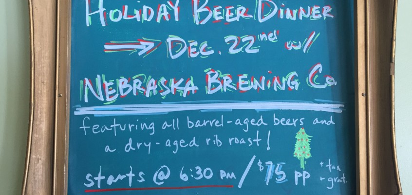 HOLIDAY BEER DINNER!