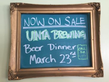 MARCH BEER DINNER!