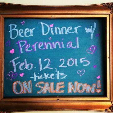 February Beer Dinner!