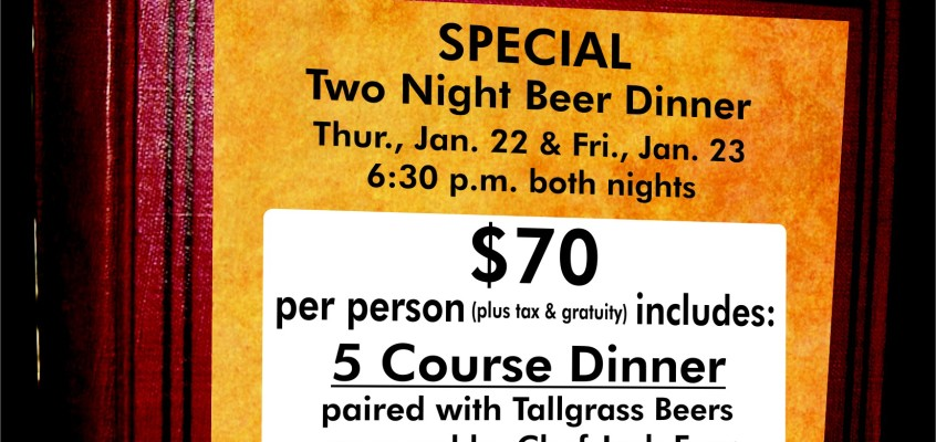 "January ""BeerBook"" Dinner!"